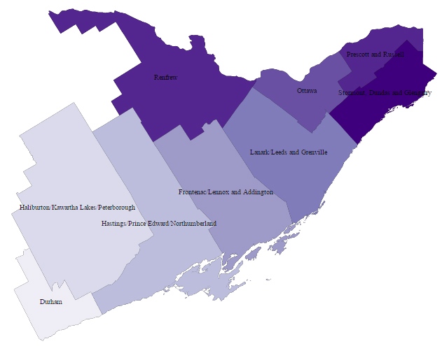 MCYS Central Region and Member CYMH Service Areas